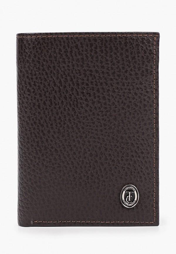 мужской кошелёк trussardi, коричневый