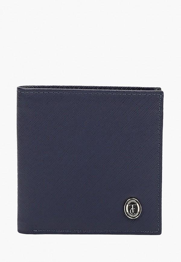 мужской кошелёк trussardi, синий