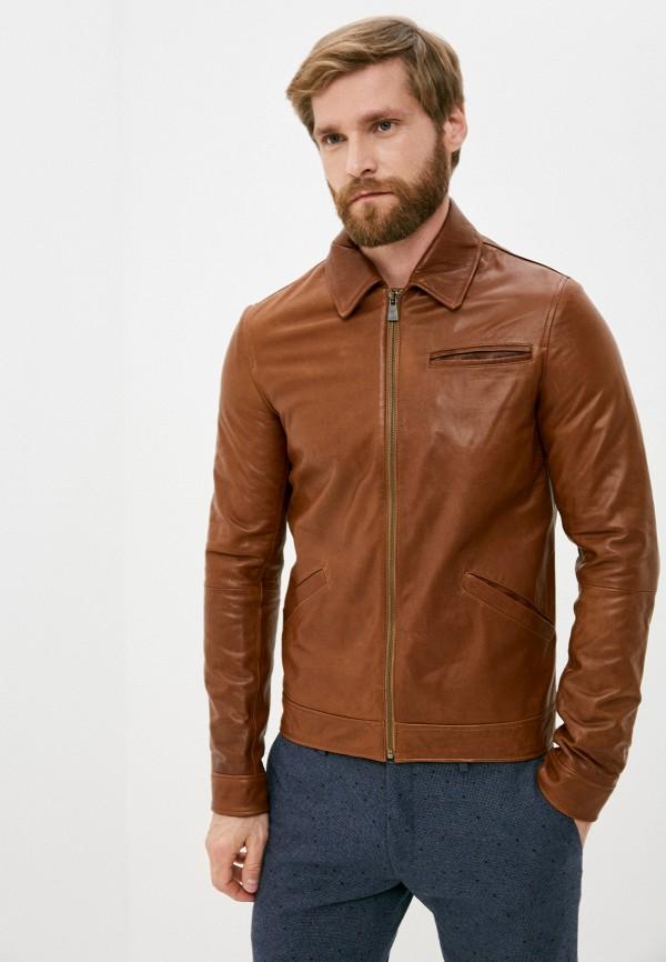 мужская куртка trussardi, коричневая