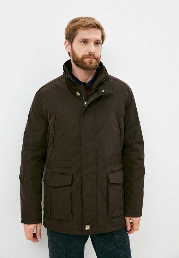 мужская утепленные куртка trussardi, коричневая