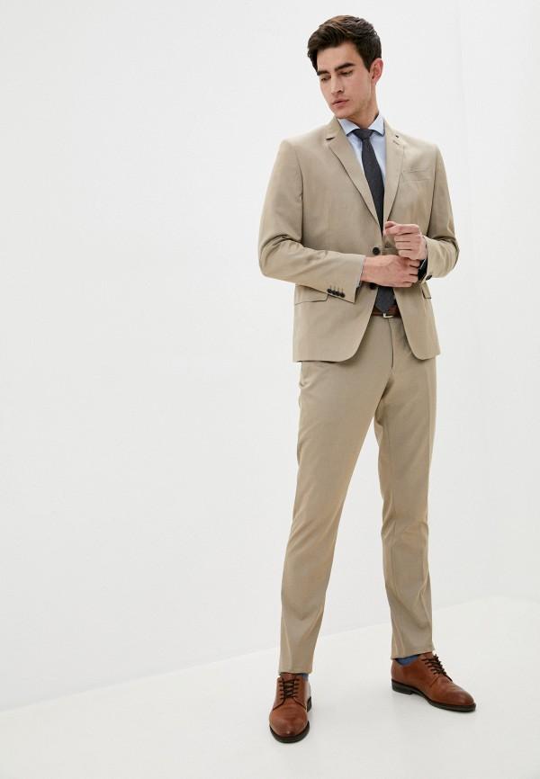 мужской костюм trussardi, бежевый