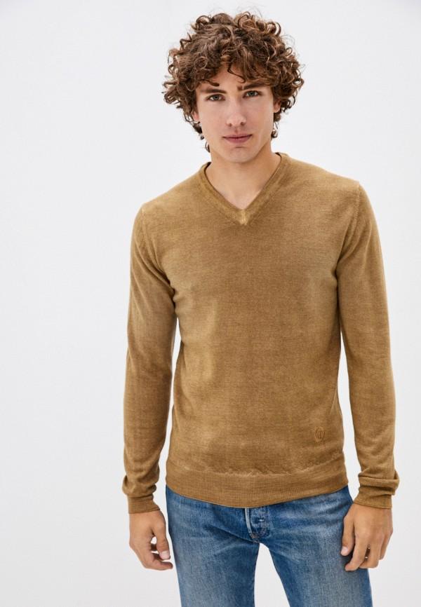 мужской пуловер trussardi, желтый
