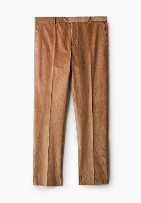 мужские прямые брюки trussardi, бежевые