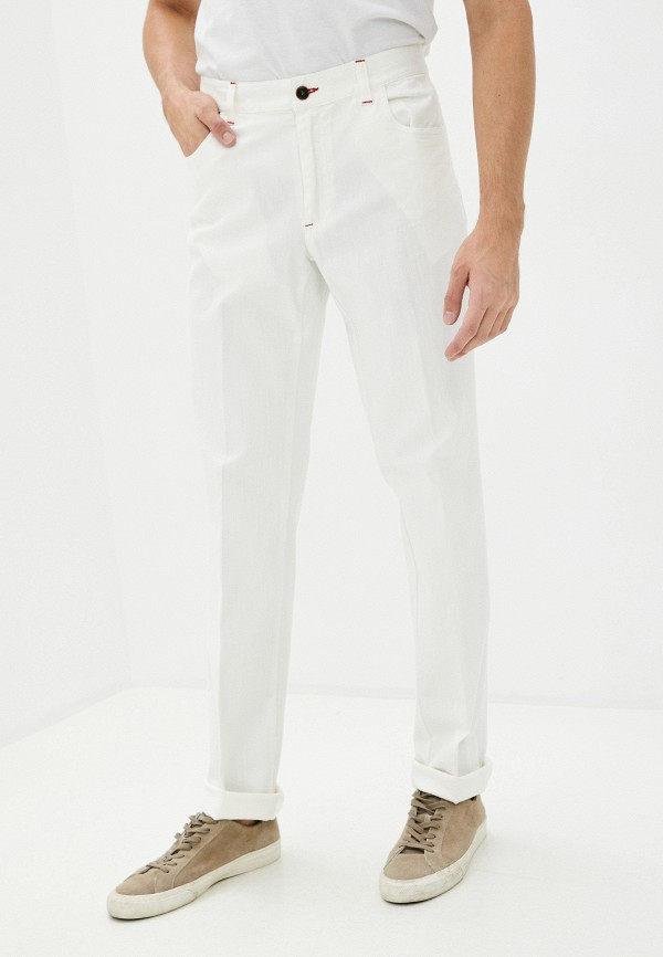 мужские прямые брюки trussardi, белые