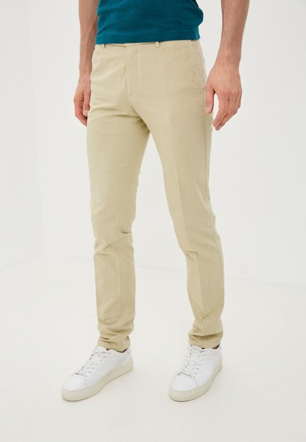 мужские повседневные брюки trussardi, бежевые