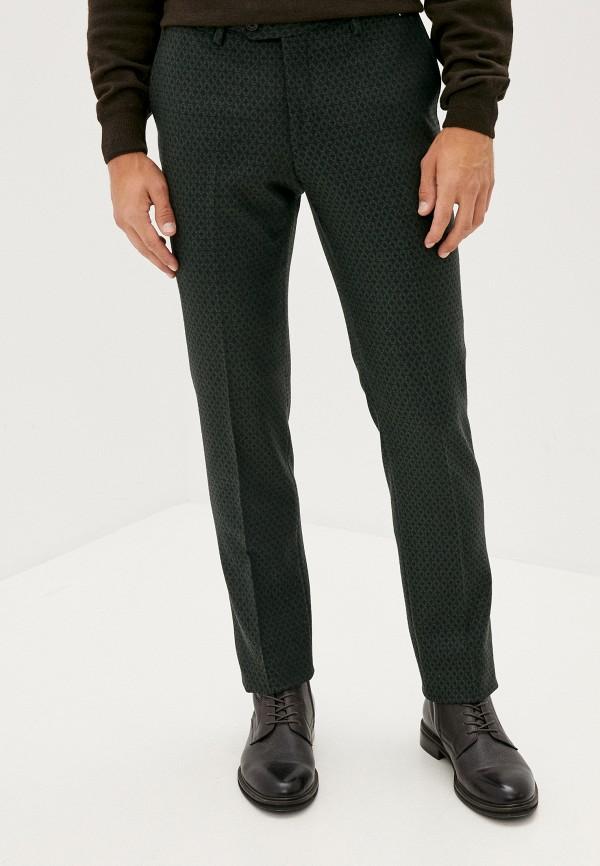мужские зауженные брюки trussardi, зеленые