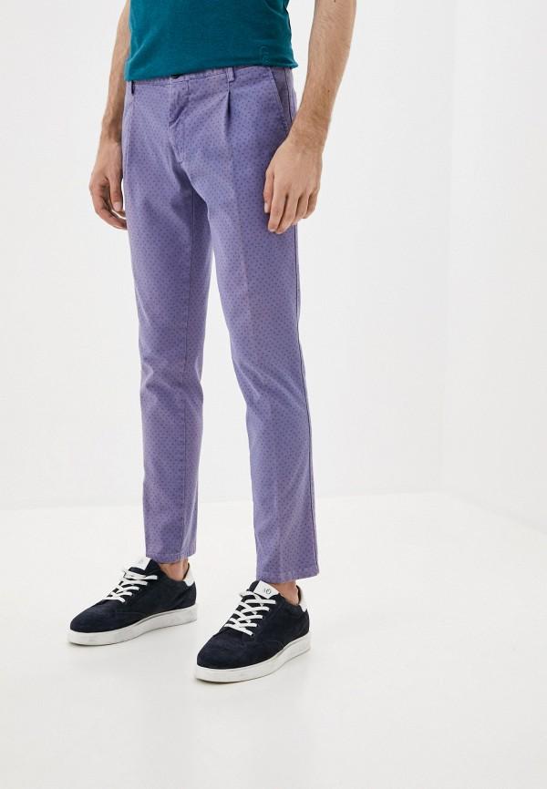 мужские повседневные брюки trussardi, фиолетовые