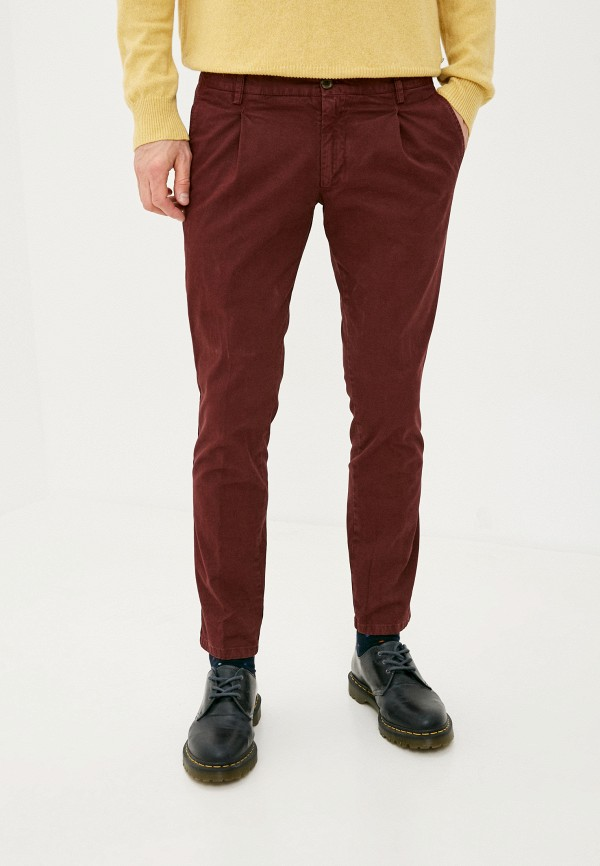 мужские повседневные брюки trussardi, бордовые