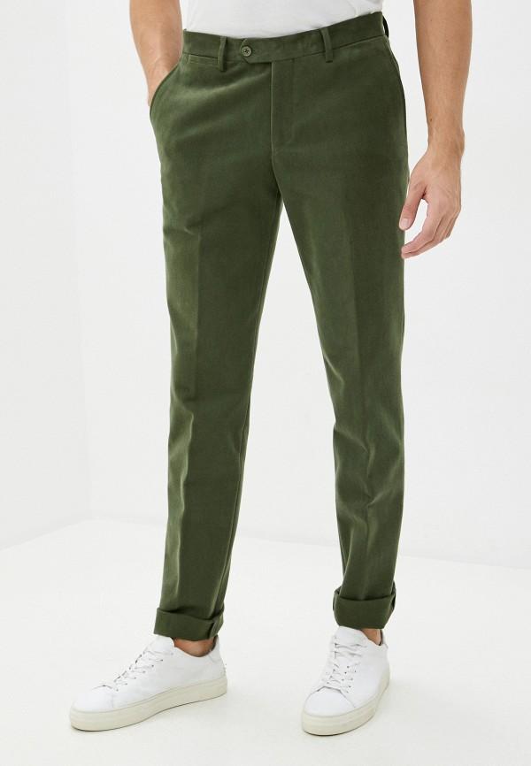 мужские прямые брюки trussardi, зеленые