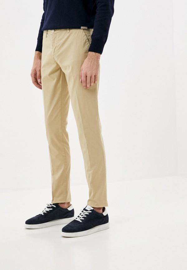 мужские зауженные брюки trussardi, бежевые