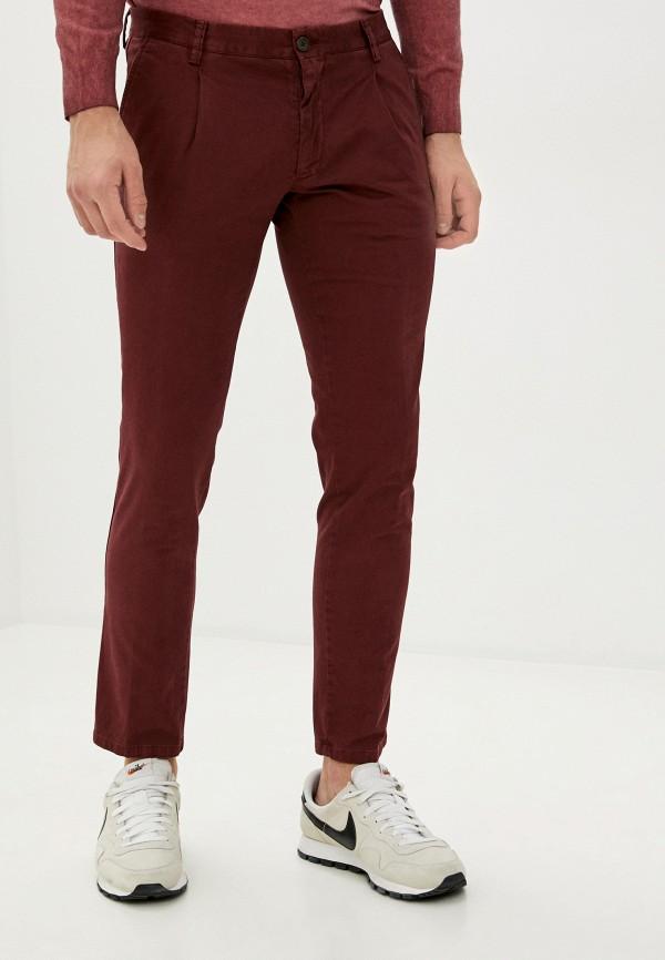 мужские брюки чинос trussardi, бордовые