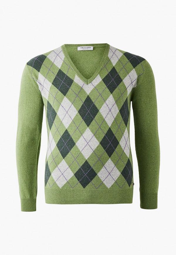 мужской пуловер trussardi, зеленый