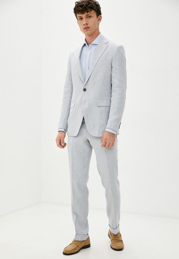 мужской костюм trussardi, голубой