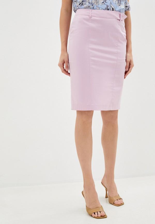 женская узкие юбка trussardi, розовая
