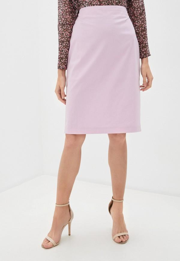 женская прямые юбка trussardi, розовая