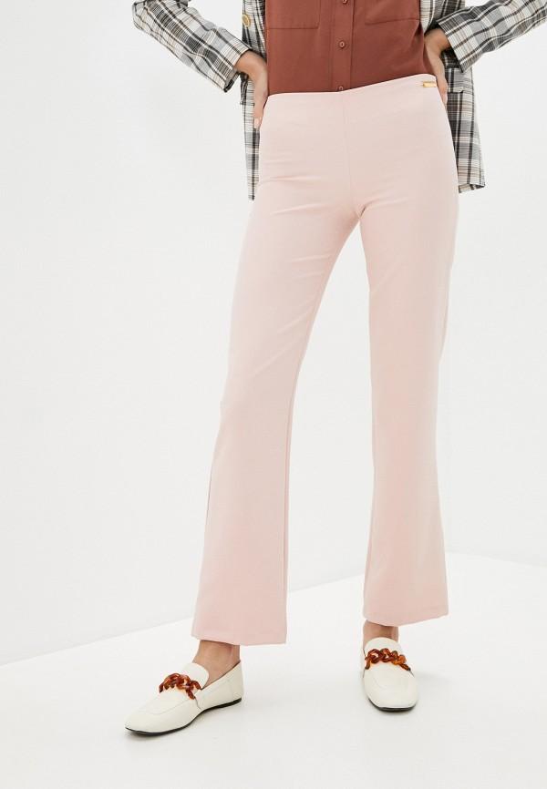 женские повседневные брюки trussardi, розовые