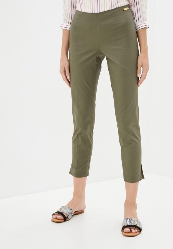 женские повседневные брюки trussardi, хаки