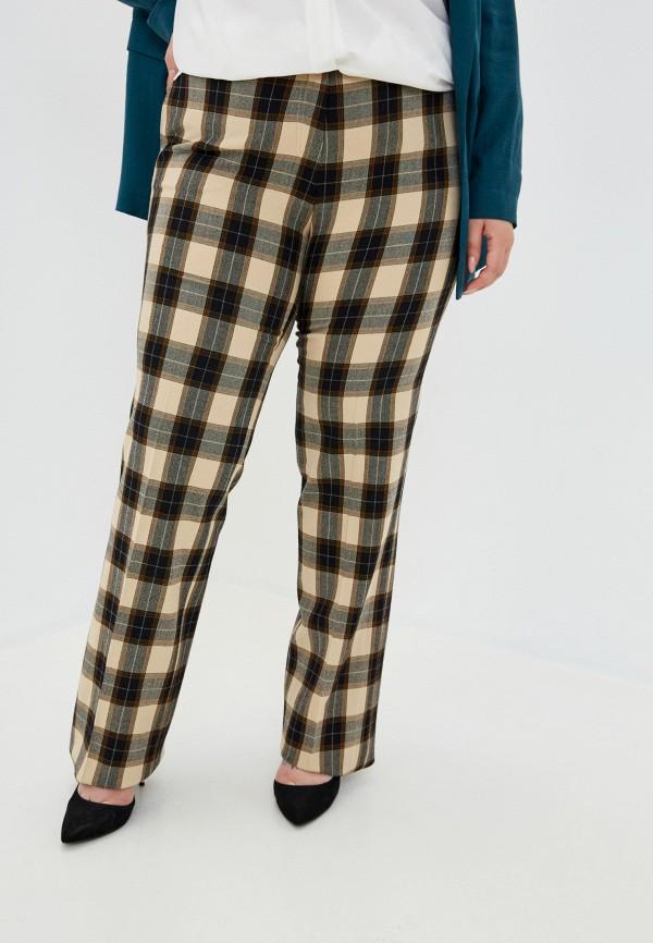 женские прямые брюки trussardi, бежевые