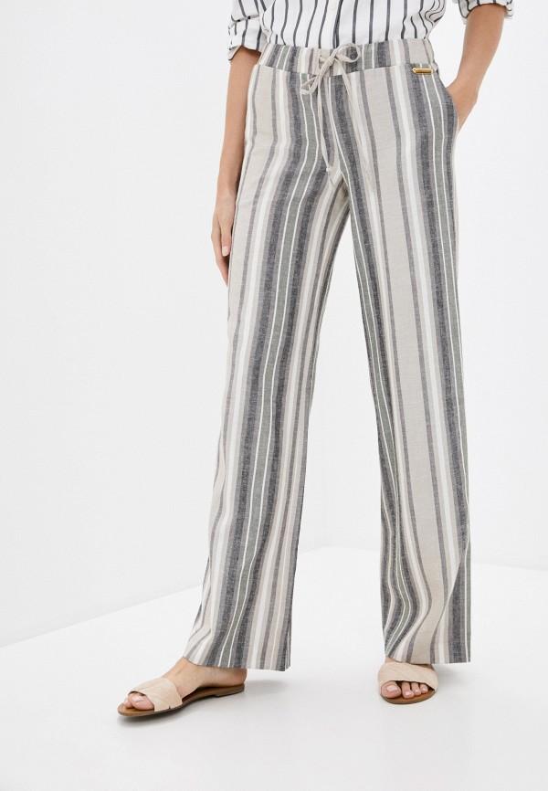 женские повседневные брюки trussardi, бежевые