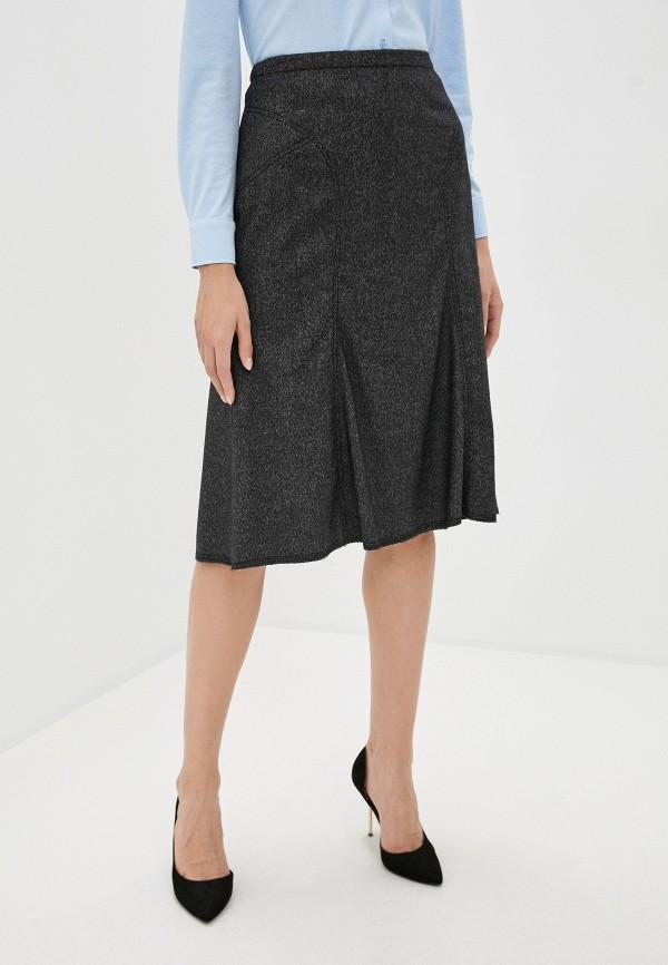 женская юбка-трапеции trussardi, серая