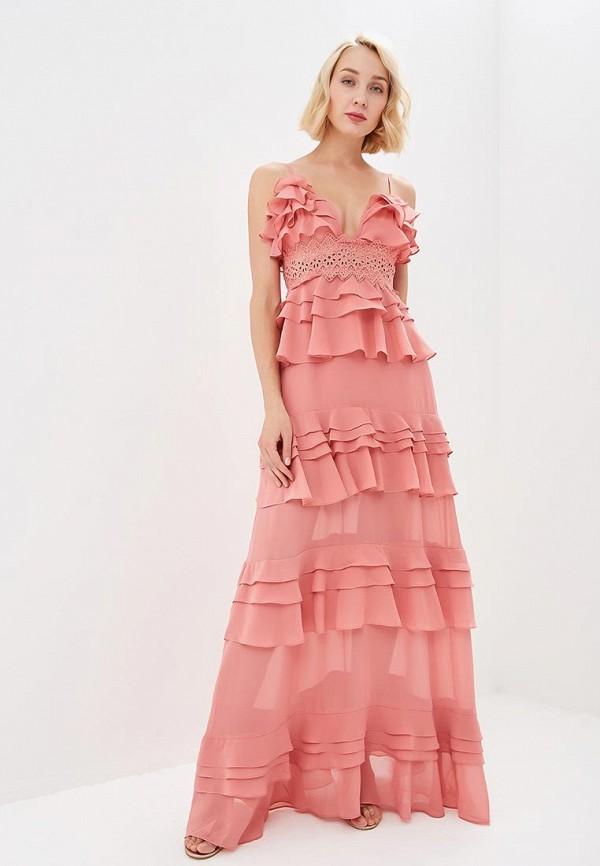 женское вечерние платье glamorous, розовое