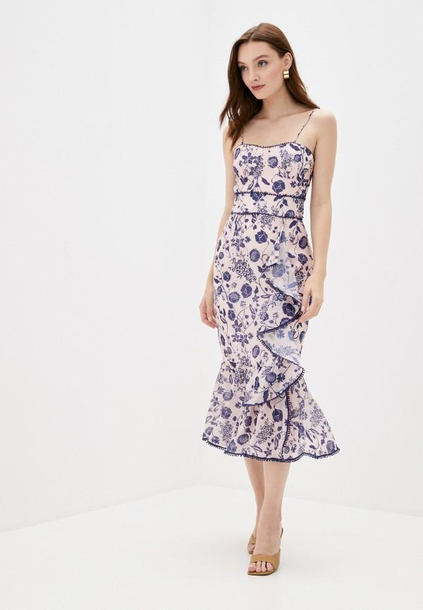 женское вечерние платье true decadence, бежевое
