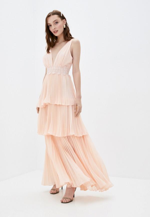 женское вечерние платье true decadence, розовое
