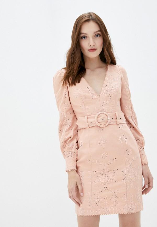женское повседневные платье true decadence, розовое