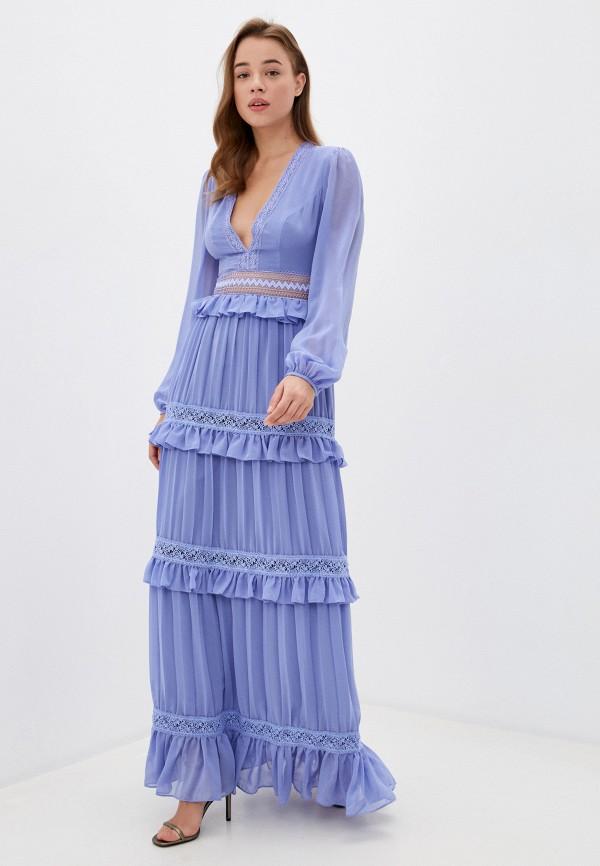 женское вечерние платье true decadence, голубое