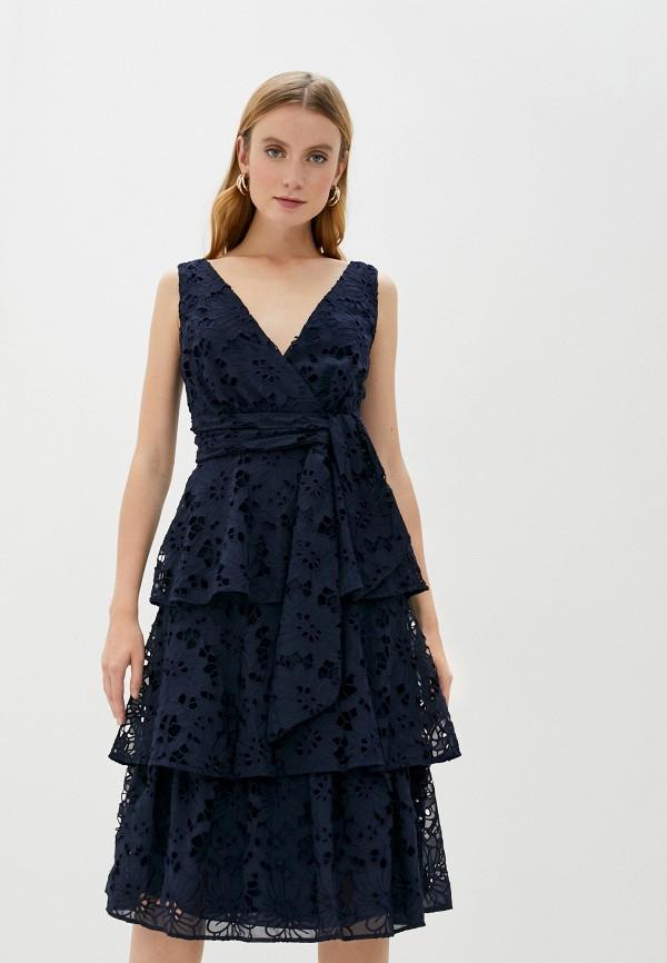 женское вечерние платье true decadence, синее