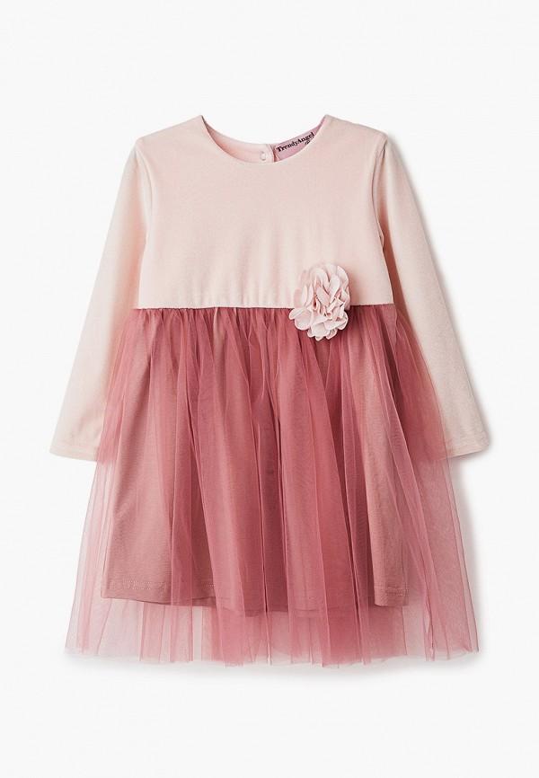 повседневные платье trendyangel baby для девочки, розовое