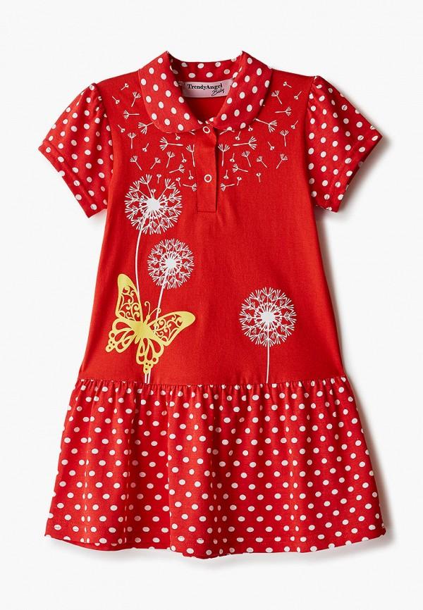 повседневные платье trendyangel baby для девочки, красное