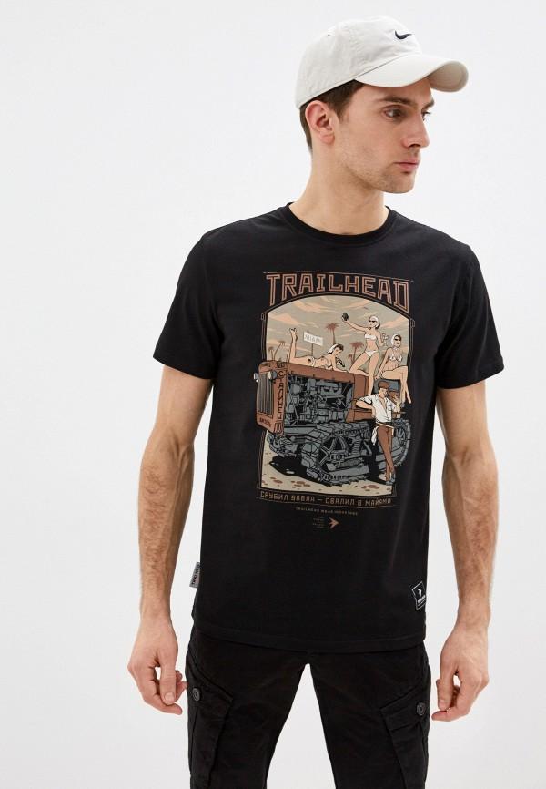мужская спортивные футболка trailhead, черная
