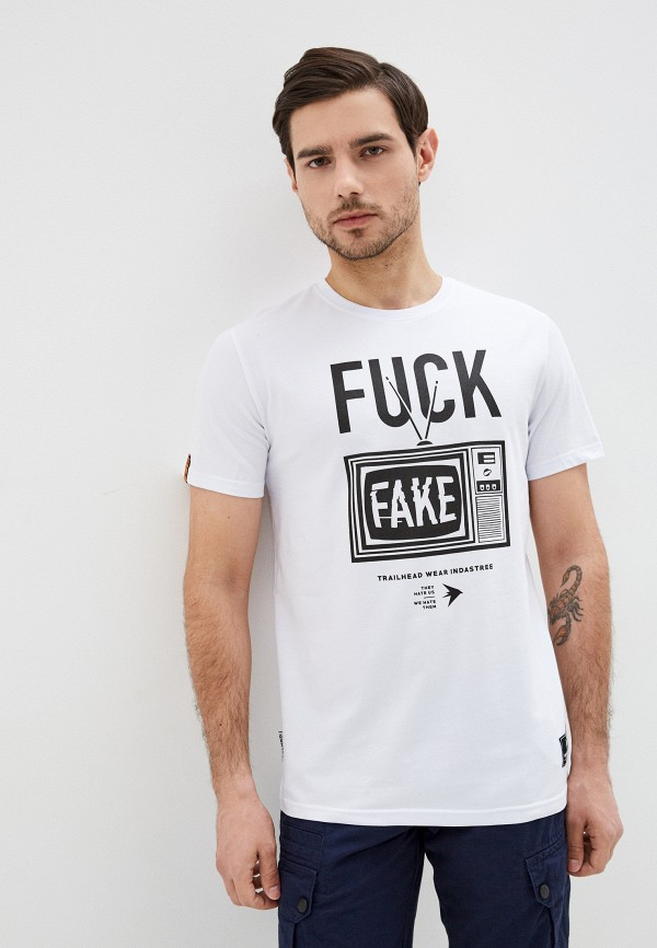 мужская спортивные футболка trailhead, белая