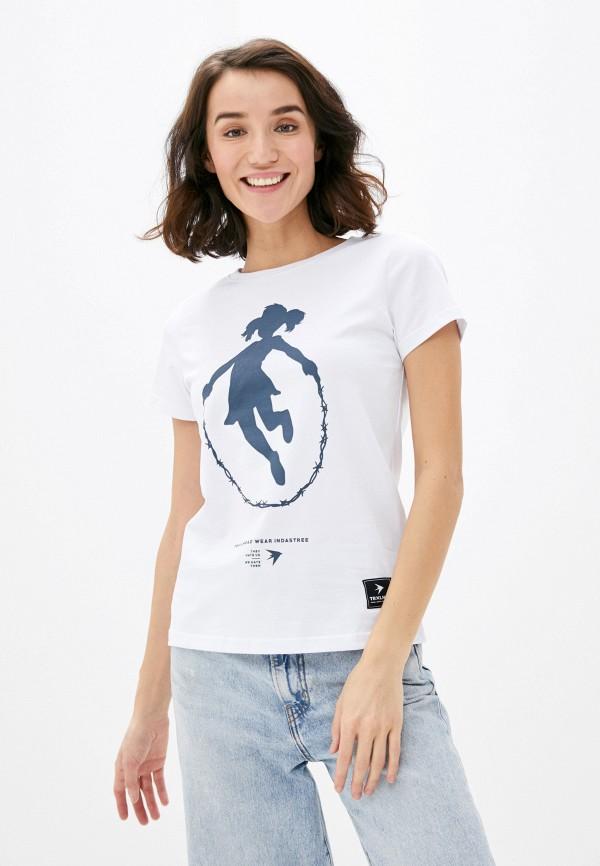 женская спортивные футболка trailhead, белая