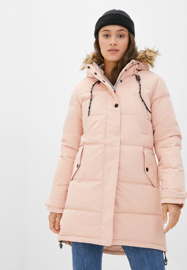 женский пуховик trailhead, розовый
