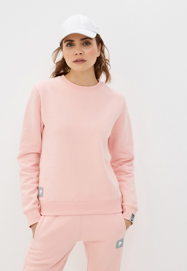 женский свитшот trailhead, розовый
