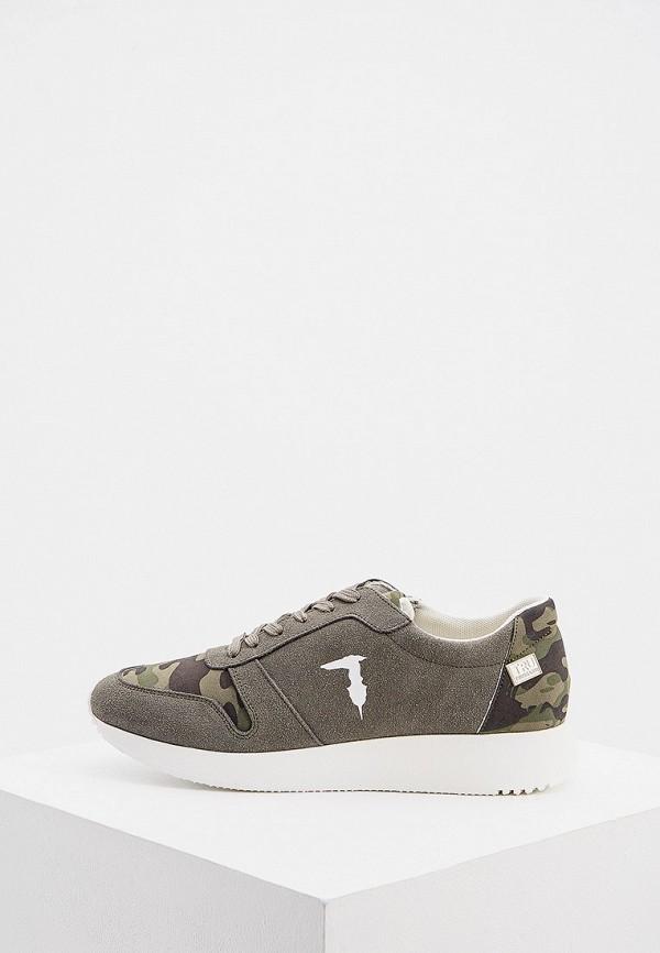 мужские кроссовки tru trussardi, хаки