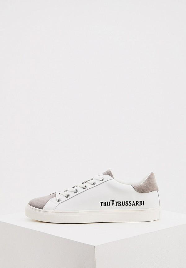 мужские кеды tru trussardi, белые