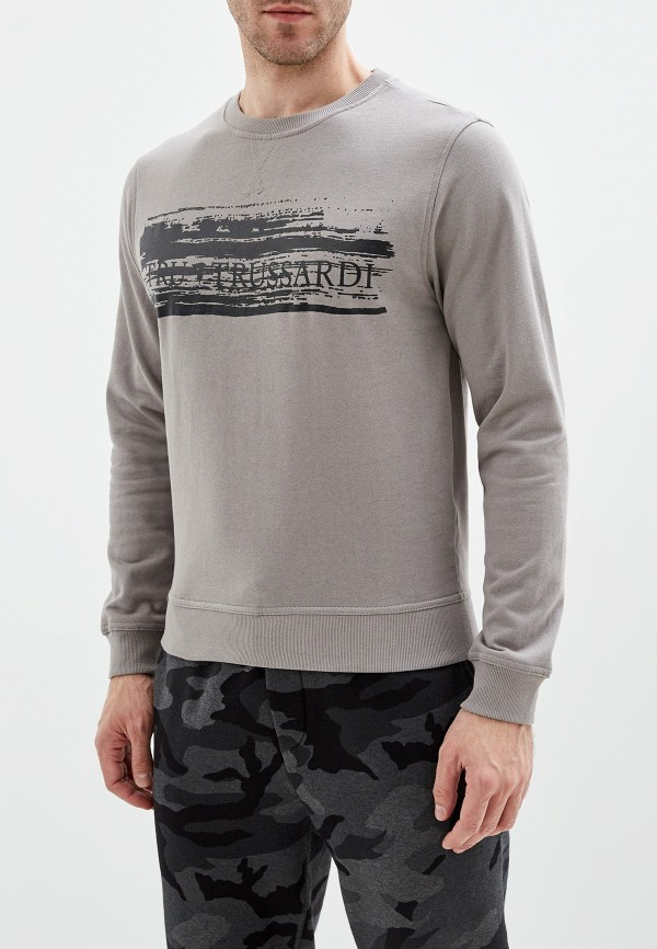 мужской свитшот tru trussardi, серый