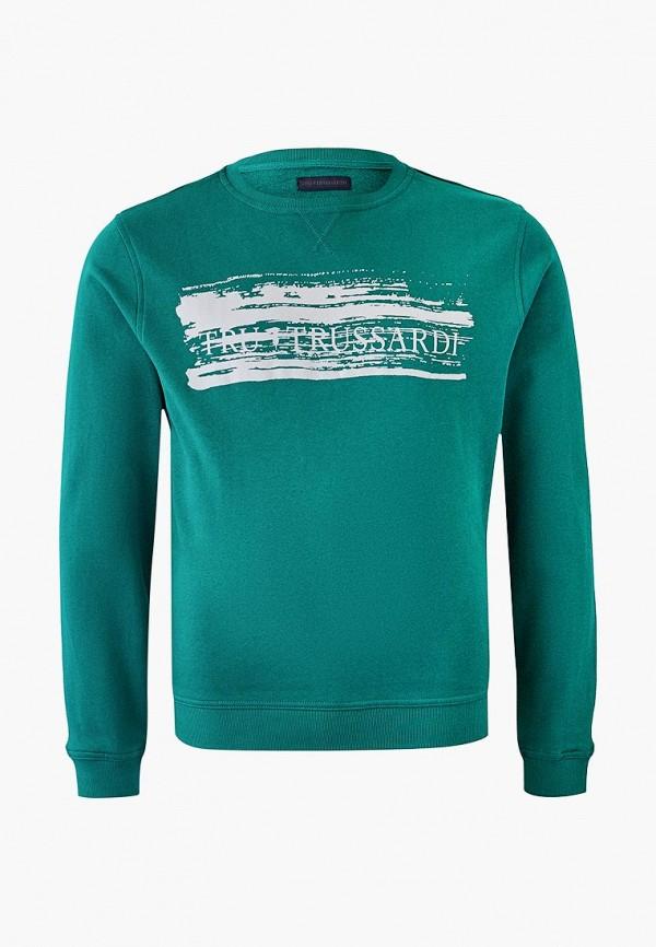 мужской свитшот tru trussardi, зеленый