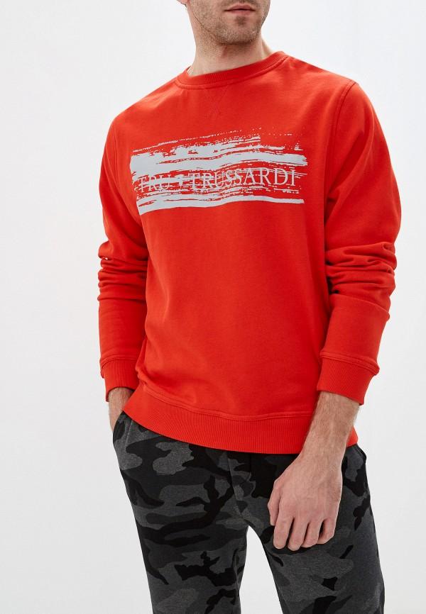 мужской свитшот tru trussardi, красный