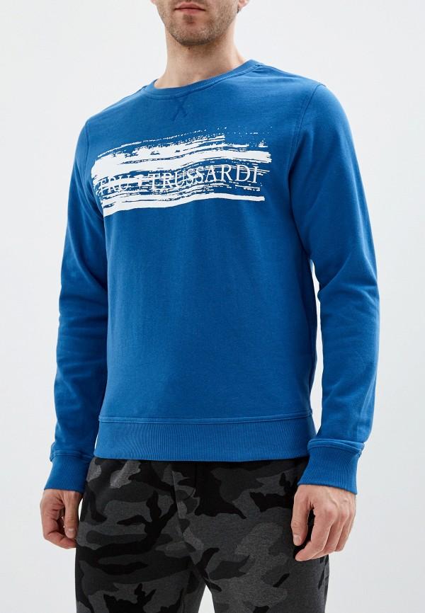 мужской свитшот tru trussardi, синий
