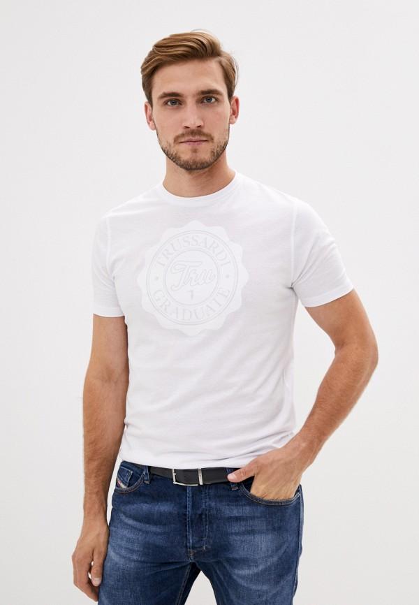 мужская футболка tru trussardi, белая