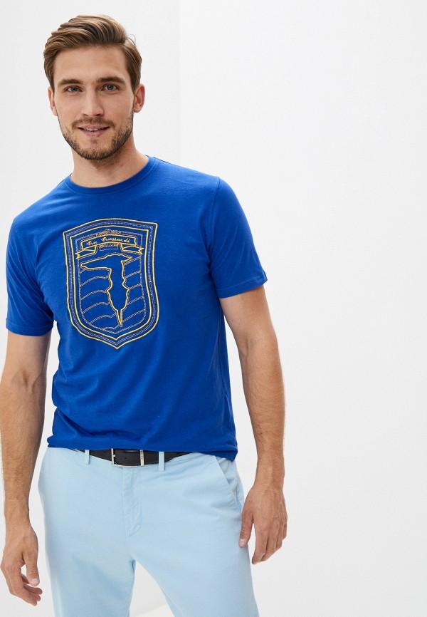 мужская футболка tru trussardi, синяя