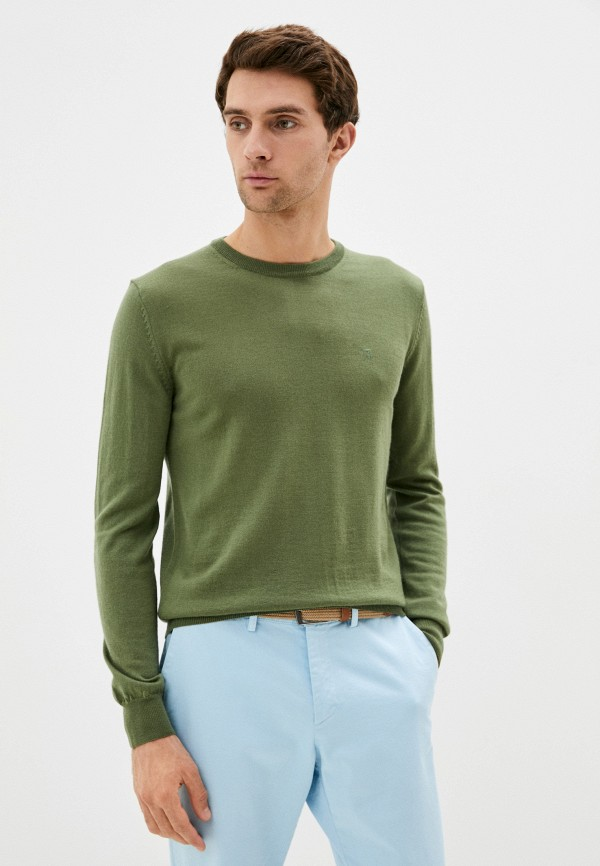 мужской джемпер tru trussardi, зеленый