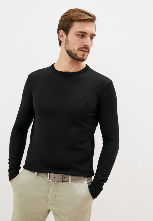мужской джемпер tru trussardi, черный