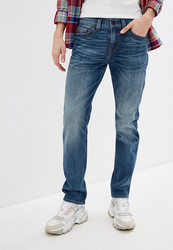 мужские зауженные джинсы true religion, синие