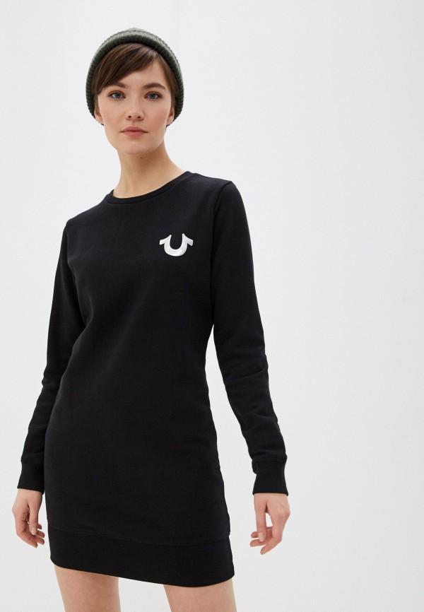 женское платье true religion, черное