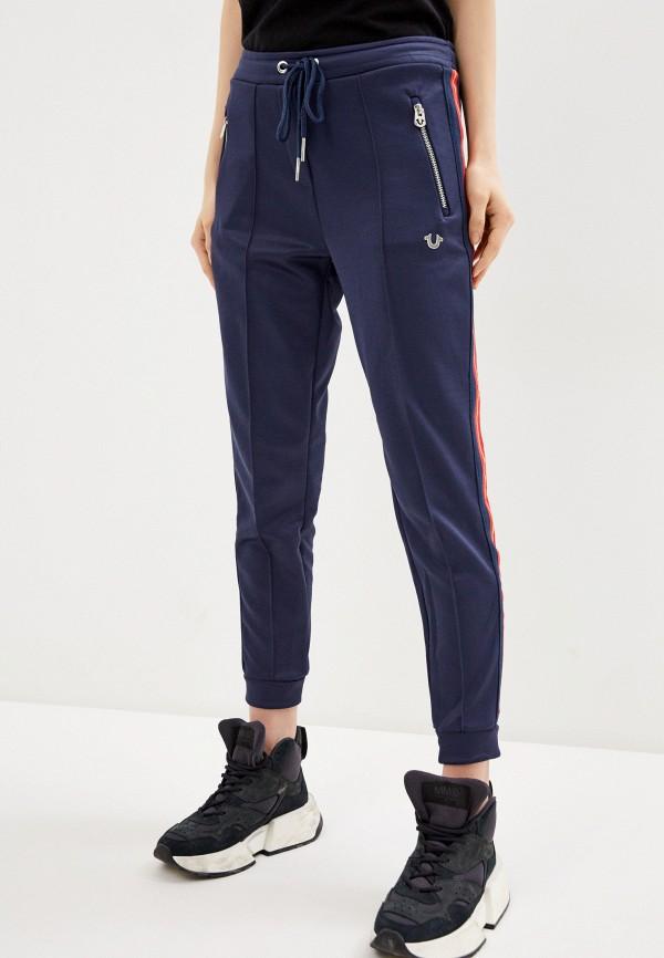 женские спортивные брюки true religion, синие
